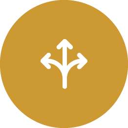arrows pointing different ways