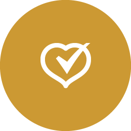 heart with checkmark through it